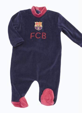 Desconocido FC Barcelona Baby-Strampler, 6 Monate
