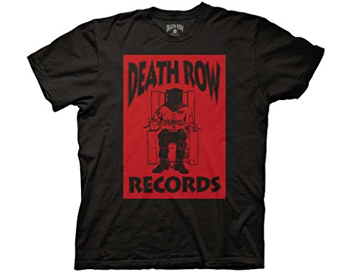 Ripple Junction Death Row Records Black Box Reversed Adult T-Shirt Large Black