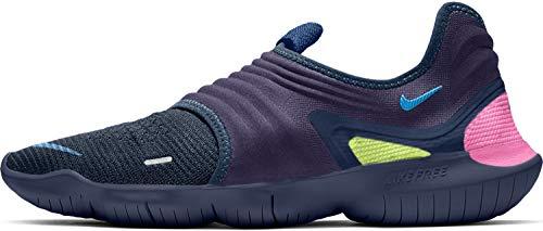 Nike Herren Free Rn Flyknit 3.0 Leichtathletikschuhe, Mehrfarbig (Midnight Navy/Volt/Blue Hero 400), 42 EU
