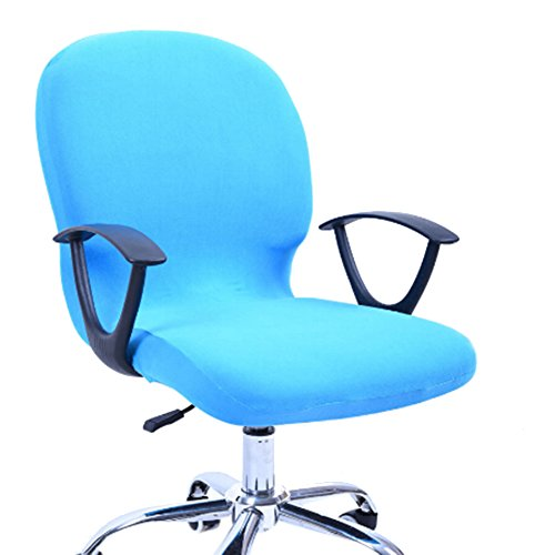 ARTSTORE Computer Chair Covers Office Chair Covers Swivel Chair Covers Universal Chair Covers Slipcovers (Blue)