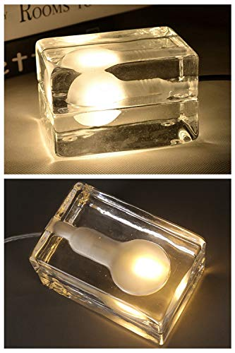 Nordic LED-tafellampen, creatief glass blok, ijsverlichting, mini, mode, minimalistisch, koffie, tafellamp voor kinderen, geschenken voor meisjes en jongens