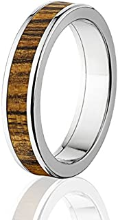 New Bocote Rings, Exotic Hard Wood Wedding Band w/Comfort Fit