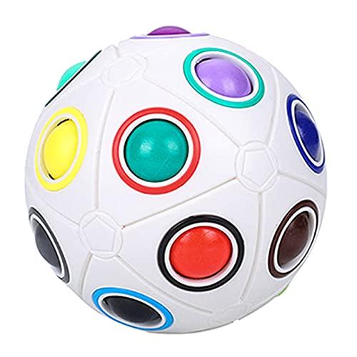 Herefun Magic Ball, Bola de Arco Iris Bola de Arco Iiris Magic Rainbow Cube Spherical Cube Puzzle Rompecabezas Juguetes Educativos para Niños Adult Stress Reliever