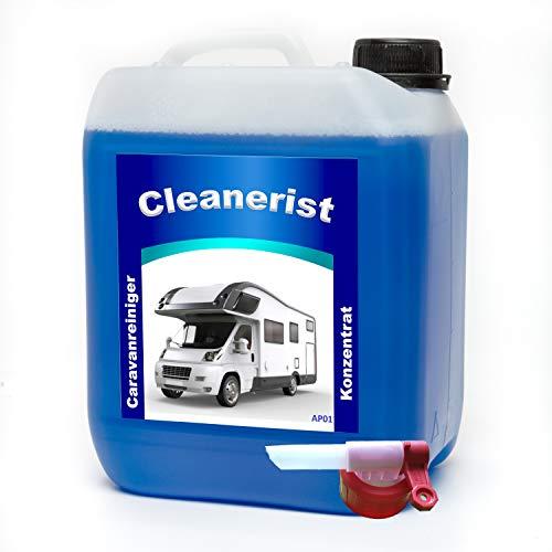 5 Liter Cleanerist Caravanreiniger Konzentrat inkl. Sabeu FLUXX® Auslaufhahn - spezieller Reiniger für Caravan, Wohnwagen, Wohnmobil und Reisemobil 1 liter =4,78€