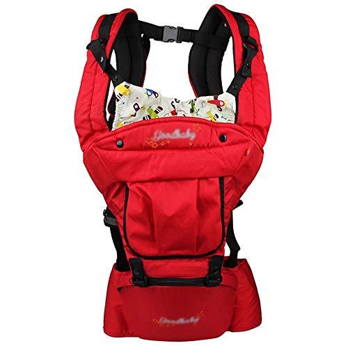 FH Babytrage, Bequem Und Atmungsaktiv, Ergonomische Babytrage, Babytrage Vorne Und Hinten, Geeignet Für 4-18 Monate Baby - Dunkelgrün, Rot (Farbe : Rot)