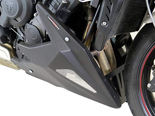 Powerbronze Belly Pan, MATT Black-Silver MESH for Triumph,Street Triple,13-16, Street Triple R, 13-19, Street Triple R Low, 17-19, Street Triple RS, 17-19,Street Triple S, 17-19   320-T102-670
