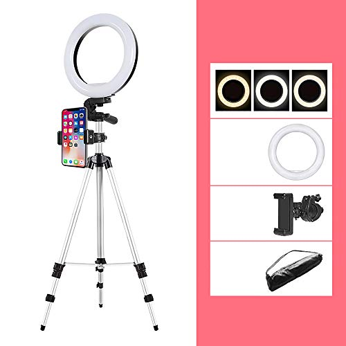 Ring Light LED Desktop Selfie Ring Light USB LED Desk Camera Ringlight 3 kleuren licht met statief houder voor mobiele telefoon iPhone en afstandsbediening voor make-up Foto Streaming Live 1.6m fill light live frame Frame 20cm Ring Light