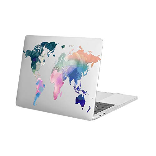 MOSISO MacBook Pro 13 inch Case 2020 2019 2018 2017 2016 Release A2338 M1 A2289 A2251 A2159 A1989 A1706 A1708, Plastic Map Hard Shell Case Compatible with MacBook Pro 13 inch, Transparent