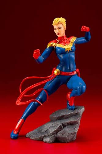 Kotobukiya Boneco do Capitão Marvel Comics Série Vingadores da Marvel Artfx+ estátua, multicolorido, padrão