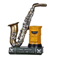 joyMerit 樹脂ペンホルダーサックスバイオリン - イエロー&ブロンズ;サックス_ 8cm