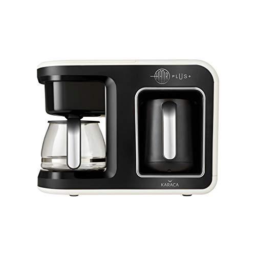 Karaca Hatir Plus 2 in 1 Filterkaffee&Turkischen Kaffeemaschine, Creme, Fur 5 Personen, 1385W, Filter aus Edelstahl, Glas-Kanne, Kaffeevollautomat