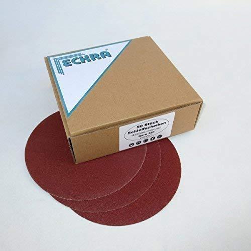 100 Schleifscheiben 150 mm mit Klett ohne Loch in verschiedenen Körnungen