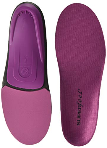 Superfeet BERRY Women's Comfort High Arch Support and Forefoot Cushion Orthotic Insoles for Anti-fatigue, Womens, Berry, Medium/D: 8.5-10 US Womens