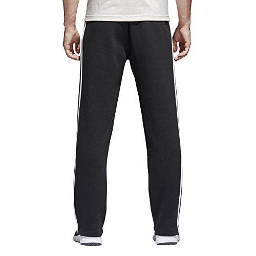 adidas Athletics Essentials Pantalon en Polaire pour Homme Coupe Droite 3 Bandes S Noir/Blanc