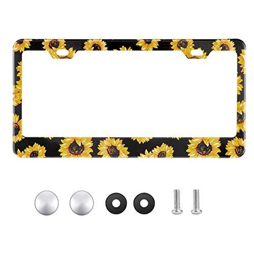 Sunflower License Plate Frame