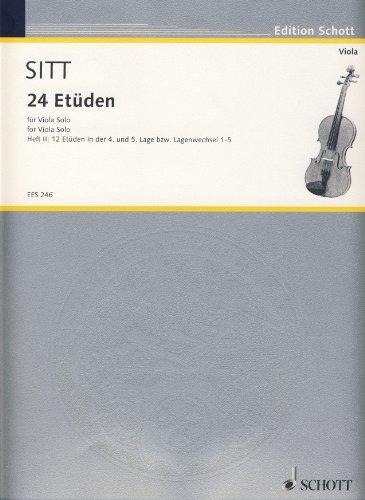 SITT - Estudios (24) Op.32 Vol.2: 12 Estudios en 4ª a 5ª Posicion para Viola (Klemm)