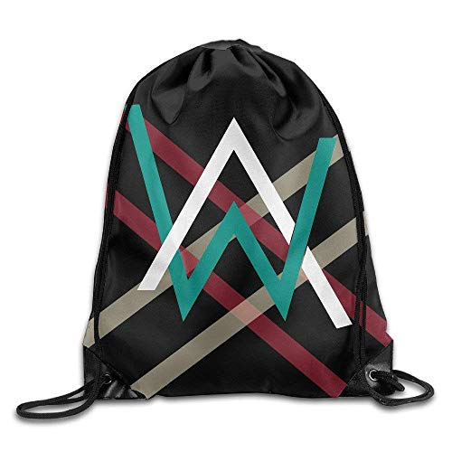 SOOPTY Alan Walker Logo Drawstring Backpack Sack Bag