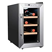 IKOHS VINARIAM WOOD 800 - Vinoteca de 8 botellas, 23 l, 60 W, Luz LED, Displa...