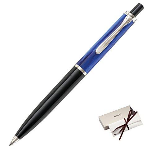 Pelikan K205 Bolígrafo Classic 205 Blue-marbled detalles en plata