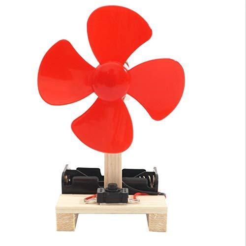 Gazechimp Generador de Energía Eólica Kid Motor de Ventilador Eléctrico IQ Training Physics Montar Juguete