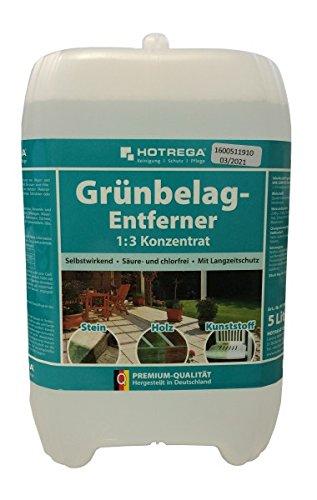 HOTREGA® Grünbelag-Entferner 1:3 Konzentrat 5 l - Säure & chlorfreier Spezialreiniger