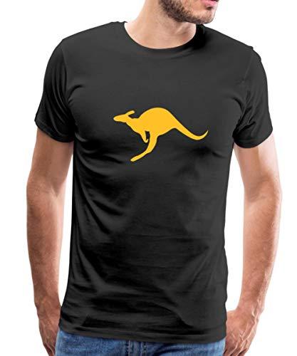 Känguru Australien Beuteltier Männer Premium T-Shirt, XXL, Schwarz