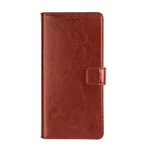 Amazon Brand - Solimo Flip Leather Mobile Cover (Soft & Flexible Back case) for Oppo Reno 3 Pro - Brown