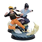 2Pcs 26Cm Naruto Shippuden Uzumaki Naruto Uchiha Sasuke Battle Ver Toy, Action Figure Anime Model Statue Collectible Toy, Gifts For Children