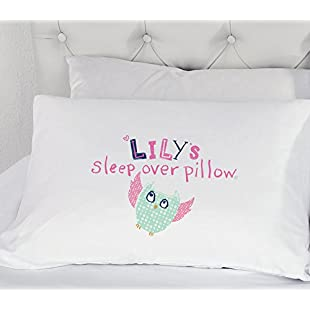 60 Second Makeover Limited Personalised Girls Owl Sleepover Pillowcase Pillow Case Gift Childrens Bedding Present Illustrated Sleep Over