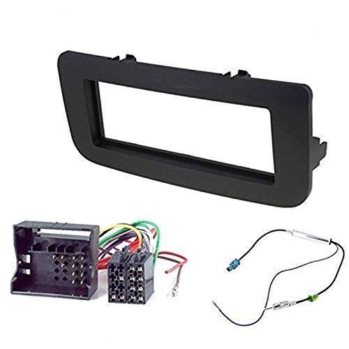 Sound-way 1 DIN Radiopaneel Frame Autoradio, Antenne Adapter, ISO Aansluitkabel, ondersteuning voor Skoda Roomster, Fabia