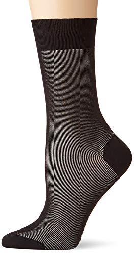FALKE Damen Socken Color Shade - Baumwollmischung, 1 Paar, Schwarz (Black 3000), Größe: 41-42
