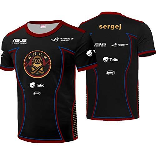 73HA73 T-Shirts für Herren E-Sport Katowice Major 2019 CS_GO ENCE Esports allu sergej Uniform Bequeme und Atmungsaktive Sweatshirts,sergej,4XL(186-200cm)