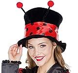 Rubie's Damen Zylinder Hut Marienkäfer OneSize Käfer Kostüm-Zubehör Karneval