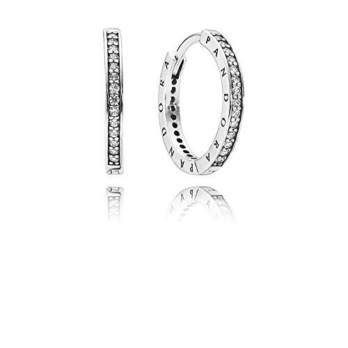 pequeño y compacto Pendientes de botón de plata para mujer Pandora – 290558CZ