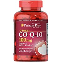 240-Count Puritan's Pride CoQ10 Rapid Release Softgels 100mg