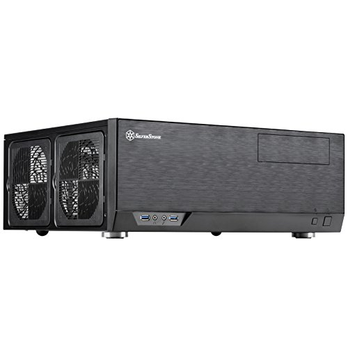 SilverStone Technology GD09B Home Theater Computer Case (HTPC) with Faux Aluminum Design for ATX/Micro-ATX Motherboards GD09B-x