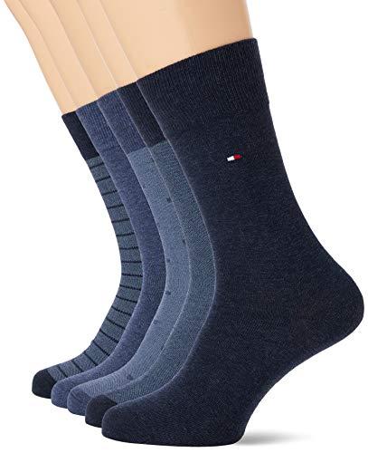 Tommy Hilfiger Mens TH 5P BIRDEYE TIN GIFTBOX Socks, Jeans, 39/42 (5er Pack)