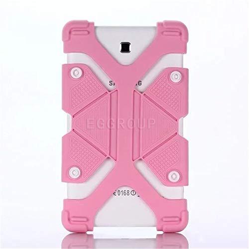 RZL Pad y Tab Fundas para iPad Pro 11 2020, 8,9 a 12 Pulgadas Funda de Silicona a Prueba de Golpes de Silicona Seguridad Ajustable Cubierta Protectora Completa para Huawei Samsung (Color : Pink)