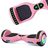 SISIGAD Bluetooth Hoverboard, 6.5' Two-Wheel Self Balancing Hoverboard w/Bluetooth Speaker - Pure Color Series