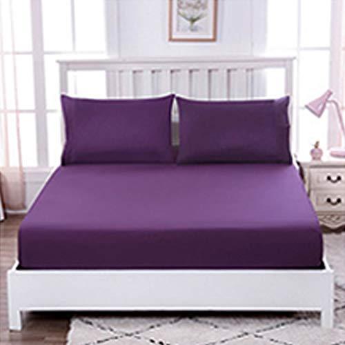 GuLL Hojas de color puras y colchas sencillas ideales para camas dobles y camas individuales en casa (lila, 150 x 200 cm).