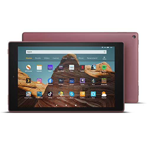 Fire HD 10 Tablet | 10.1' 1080p Full HD display, 32 GB, Plum with Special Offers