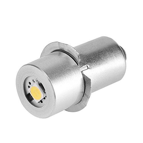 GLOGLOW 1 stück P13.5S 1 Watt LED Taschenlampe Ersatzlampe Taschenlampe Lampe Notfall Arbeitslicht Erneuerung Teil Lange Lebensdauer(6 V)