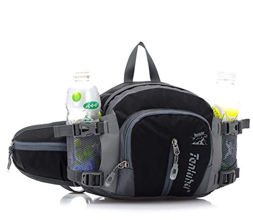 BestFire Riñonera portátil para senderismo, impermeable, de nailon, para correr, senderismo, bolsa de agua, multifuncional, para viajes, al aire libre