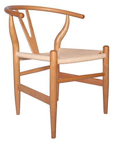 "Amazon Brand - Stone & Beam Classic Wishbone Dining Chair, 22.4""W, Natural / Natural"
