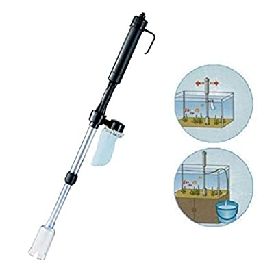 Simplylin Battery Gravel Vacuum Cleaner Aquarium Fish Tank Cleaning Syphon Water Vac,Fish Tank Electric Water Changer