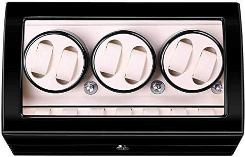 OH 6 + 7 Hölzerne Uhr Wicker, Automatikuhr Wickler Box Watch Case Storage Display Watch Box Mit Hochglanz Klavierfarbe Uhr Feiertagsgeschenk.