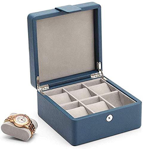 SMEJS Uhrengehäuse aus Holz Uhr Vitrine Glas Top Jewelry Collection Storage Box Organizer Kirschholz