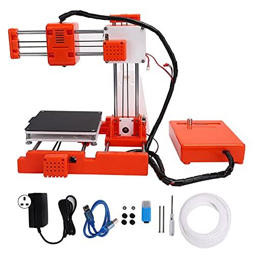 Mini Desktop 3D Printer, High Accuracy Mini Desktop DIY Printer with 3 Kinds Connection Mode for Students 110‑240V(UK Plug)