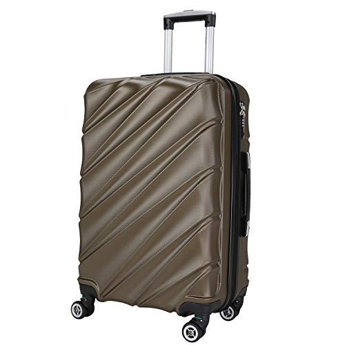 Shaik serie Candy Design LHR | TSA-slot | maat XL ca. 77 x 51 x 30 cm harde koffer 120 liter, 4 dubbele wielen, 25% meer volume (antraciet)