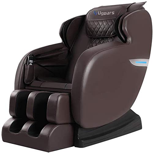 Massage Chair, Zero Gravity Massage Chair, Full Body Shiatsu Massage Recliner with Heat Function, Foot Roller & Vibrator, LCD Wired Remote Control, Full Body Air Massage, Elastic Calves Section, Brown